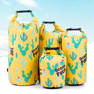 Outdoor Ocean Pack Portable Rafting Diving Waterproof Dry Sack PVC Folding Swimming Storage Bag for River Trekking Q1201