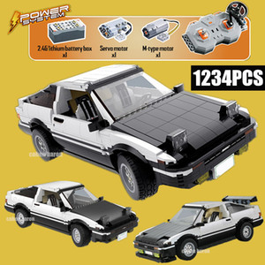New RC Remote Control City Racing Car AE86 Building Blocks Fit Technic Drift Racing Car Bricks Toys for Children Boys Kid Gift X0102