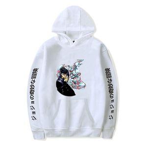 Popular white Comic JOJO Hoodies Men Women Sweatshirts Hooded Harajuku Hip Hop Casual Hoodie JOJO boys girls cartoon pulloversX1121