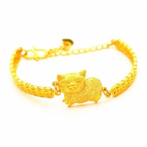 Vamoosy mujeres 2020 regalos encantos real 24k oro pulseras brazaletes hembra cadena link pulsera para mujeres amistad joyería1