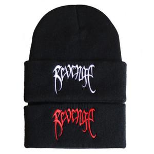 Vingança bordado xxxtentacion o rapper de malha hip hop inverno crédicos beanie hip-hop quente mulheres chapéu chapéu masculino ski boné