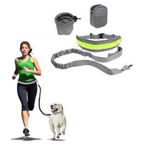 Cinturón de correa de correa de perro de mascotas Tracción libre de asiento de tracción ajustable correa deportes al aire libre caminar corriendo cuerda FFC4555