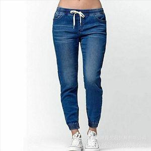 Casual Jogger Pants 2020 Elastic Sexy Skinny Pencil Jeans For Women Leggings Jeans High Waist Womens Denim Drawstring Pants
