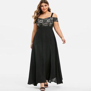 Chamsgend Femmes Maxi Off Eturesson Été Été Floral Dentelle Dames Robes De Grand tailles Vestito Lungo Elegante Donna