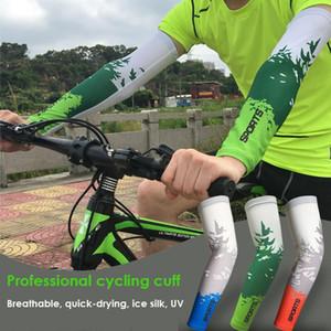 2 unids / lote spandex bicicleta ciclismo mangas de brazos sol UV Protección Bicicleta Armwarmers para juegos al aire libre Deportes Ciclismo Senderismo