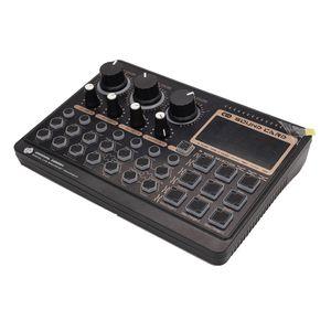 Cartão de som do misturador para transmissão ao vivo com trocador de voz com vários efeitos sonoros Mixer Dispositivo de gravação para webcasting plataforma de música K Mobile