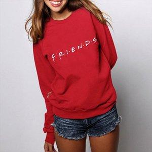 FRIENDS Print Shirt Womens Mens Hoodie Sweatshirt Hoody Coat Ladies Pullover Top Loose Casual Womens Jumper Pull Femme