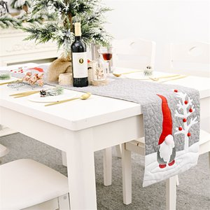 Christmas Santa Gnome Plush Doll Table Runners Xmas Party Tablecloth Family Dinners Hotel Banquet Placemat JK2011PH