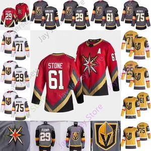 2021 Reverse Retro Vegas Golden Knights Gelo Hóquei Jersey Marc-Andre Fleury Mark Stone William Karlsson Ryan Ryan Size S-3XL