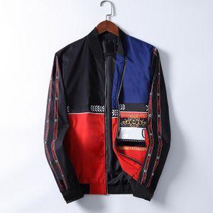 Veste de designer pour hommes 2020 rayé Slim Pocket Mens Bande-vent Vestes Casual Baseball Hommes Sweats à capuche et manteau