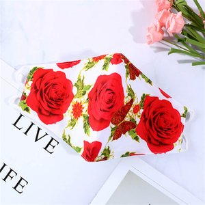 Regalo di San Valentino Valentine's Mask Mask Couple Love Adult Cotton Masks Uomo Donne Donne Dust-Proof Lavabile PM2.5 Filtro Bocca Mask CCE4304