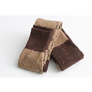 Donne ragazza lettera calze per ginocchio cotone lettera traspirante calzini alti per partito regalo di alta qualità 2 colori