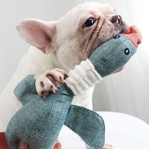 Cute Plush Chew Squeak Dog Toys Small Medium Pet Interative Toy Biting-Resistance Molar Clean Teeth Pets Accessories
