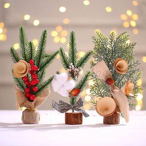 Creative Mini Christmas Tree Decoration Small Tree Decoration Tabletop Atmosphere Decoration Simulation Christmas Tree Gift Free shipping