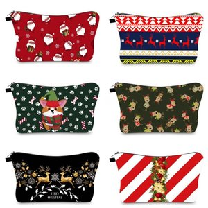 Christmas Bride Bags Girls Brides Letters Toiletry Lipstick Santa Elk Cosmetic Xmas Makeup Pouch Gift Bag DHF1293