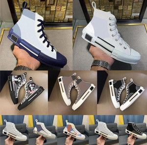 2021 B23 B22 B24 Tasarımcı Sneakers Obliques Teknik Deri Yüksek Düşük Çiçekler Platformu Açık Rahat Ayakkabılar Vintage Boyutu 36-45 V9Q3 #