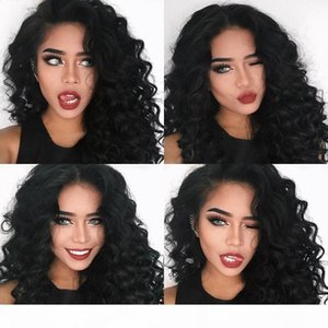 Deep Wave Glueless Full Lace Human Hair Wigs for Black Women Lace Front Wig Peruvian Hair Full Lace Wig