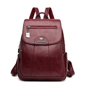 5 Color Women Soft Leather Backpacks Vintage Female Shoulder Bags Casual Travel Ladies Bagpack School Bags