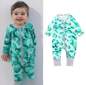 Autumn Baby Rompers Colorful Jumpsuits Baby Costume Cotton Long Sleeve o-neck Romper Baby clothes free shipping