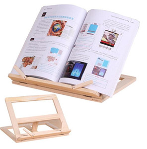 Leitura de lã Livro Ajustável Livro de madeira suporte portátil laptop tablet estudo cozinheiro receita livros de receita stands crawer organizadores OWC3894