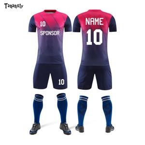 Adult Personalice Jerseys de fútbol de fútbol Hombres Jerseys de fútbol Trajes de los uniformes del equipo Conjuntos de camisas y kits Shorts 2020 Venta caliente