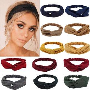 Gamuza gamuza turbante mujer banda de pelo arcos elásticos Headkerchief deporte Hairbands Head Band Nudo Diadema para niñas Headwear Headwrap