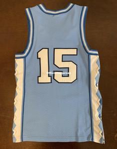 저렴한 드문 빈티지 NK UNC 노스 캐롤라이나 타르 발 뒤꿈치 빈스 카터 # 15 조끼 저지 남자 XS-5XL.6XL 셔츠 스티치 농구 유니폼 레트로 NCAA
