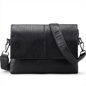 Brand Leather Men Bag Casual Men Messenger Bags Vintage Leather CrossbodyBag Male Business Briefcase Small Shoulder Bag