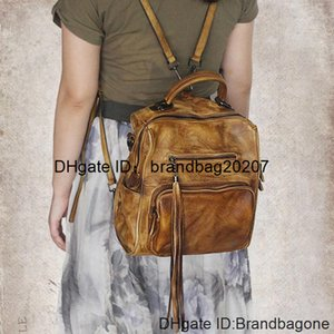 Retro Hand-polished New Multifunctional Bag,Practical fringed backpack personality Fashion Shoulder Bag