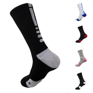 2pcs=1pair USA Professional Elite Basketball Socks Long Knee Athletic Sport Socks Men Fashion Compression Thermal Winter Socks DHL FY7322