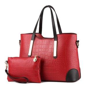 Women Bag Vintage Messenger Bags Handbags Women Top-Handle Crocodile Pattern C Purse Wallet Leather Shoulder Bags Female Handbag
