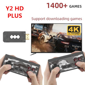 U Game Box USB Wireless Handheld TV Game Console Build In 1400 Classic Game 4K 8 Bit Mini Video Console Support HDMI Output with Gamepads