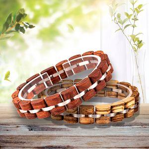 BOBO BIRD Wooden Bracelet Homme Men Women Wooden Bangle Jewelry Gift pulsera hombre Great Gifts Y1125