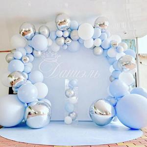 Latex Blue Balloon Set Firtst 1st One Year Birthday Boy Balloon Birthday Decor Baby Shower Kids Ballon Arch garland Kit