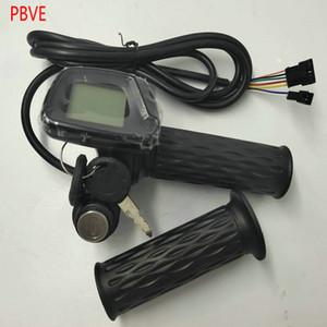 Twist-Gasgriffe mit LED-Anzeige für Geschwindigkeit + Rocksy / Schalterbeschleuniger Gasgriff für elektrische Fahrrad-Roller Moped Dreirad Tachometer