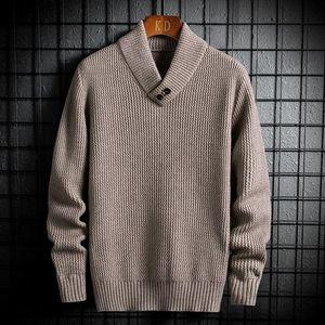 Men's sweater 2020 Autumn winter new slim fashion versatile knit long sleeve sweater loose leisure personality youth men's wear