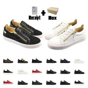 Luxurys дизайнеры обувь мужские кроссовки женские туфли Zippy Trainers белые туфли мода пинетки Zip Low плоские верхние кроссовки черные женщины сапоги 1112