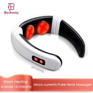 Electric Pulse Neck Massager Microcurrents Massage Back Shoulder Warm Heating Pain Relief Health Care Currents Neck Relaxation