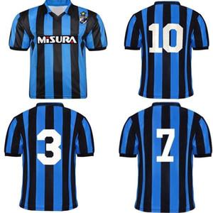 1988 1989 BREHME BERGOMI MATTHAUS rétro Jersey de football Inter 88 89 Berti Zenga Serena Klinsmann Accueil Vintage Vintage Classic Football Shirt