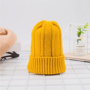 Autumn and winter new thickened warm knitted fashion lady comfortable soft dome student hat