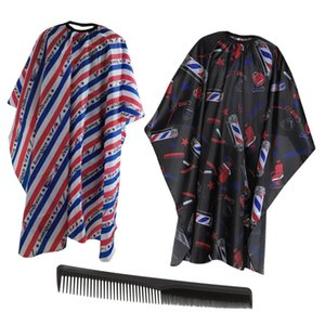 3pcs Hairdressing Cape Straight Hair Comb Set Haircuting Apron Hair Styling Cutting Tools (Black Red)