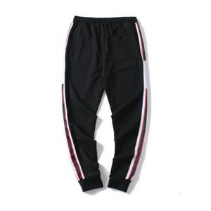 gucci 남성 조깅 바지 GC 새로운 브랜드 졸라 매는 끈 스포츠 바지 높은 패션 4 색 사이드 스트라이프 디자이너 p1DSUJ