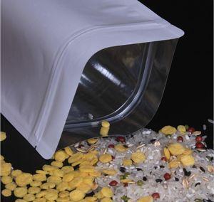 Paper Bag Kraft Kraft Lock Grip Seal Zip White Up Stand Aluminium Patte Foil Printable Food Resealable Aluminizing Zipper Grade Pouch wmtKS