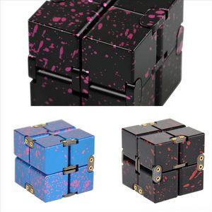 74ugf Decompression Metal Cube generation handle Novelty Aluminum Alloy Decompression Fidget Infinite Cube Pad Rubik's relief handle The