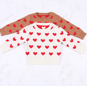 INS girls love heart knitted pullover children long sleeve casual pullover Spring new Valentine's Day mother and daughter sweater A5682