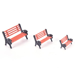1PCS Modern Park Benches Miniature Crafts Toys Fairy Garden Miniatures Accessories For Doll House Home Decor