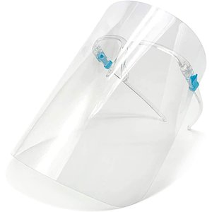 Safety Clear ECO PET Transparent with Glass Frame Plastic Reusable Protective Anti-splash and Fog Face Shield Mask DHF2896