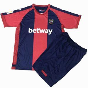 20 21 21 Levante Maillots De Foot Soccer Jersey Sets Home Bardhi J.g.Campana Levante UD 2020 2021 Homens e crianças Camisa de futebol com shorts