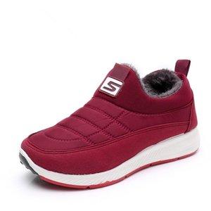 YeddaMavis Red Snow Boots Winter Warm Short Plush Men Women Cotton Shoes Non-slip Waterproof Plus Velvet Ankle Boots Snow Shoes