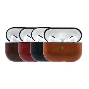 Apple airpods pro earphone leather protective case wear resistant wireless Bluetooth earphone storage case EJK05